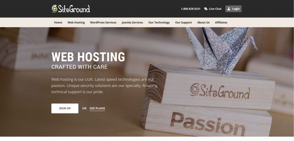 SiteGround, web hosting services crafted with care