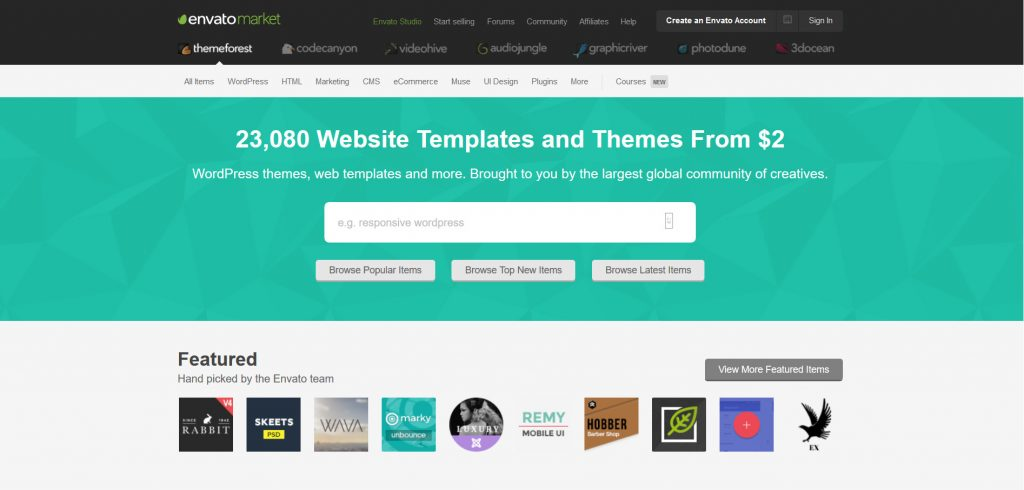 Envato, the world's leading marketplace and community for creative assets and creative people