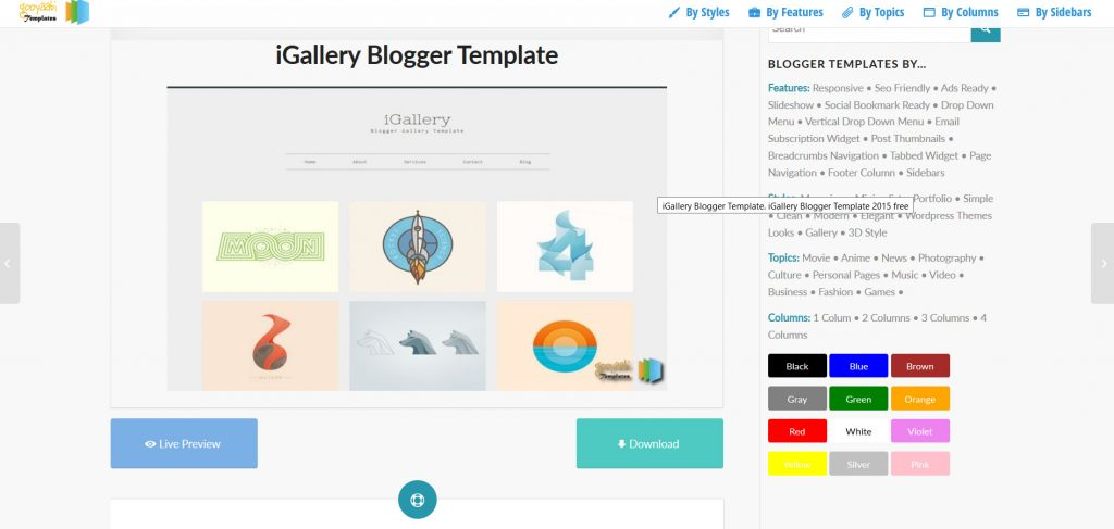 iGallery, a clean and responsive template