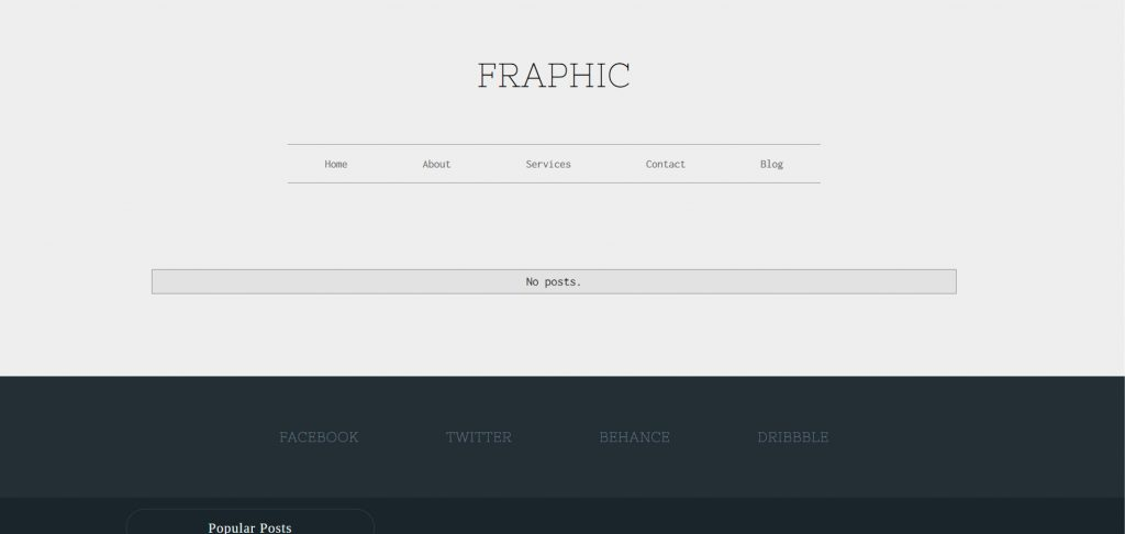 Your portfolio site looks much better after implementing the template