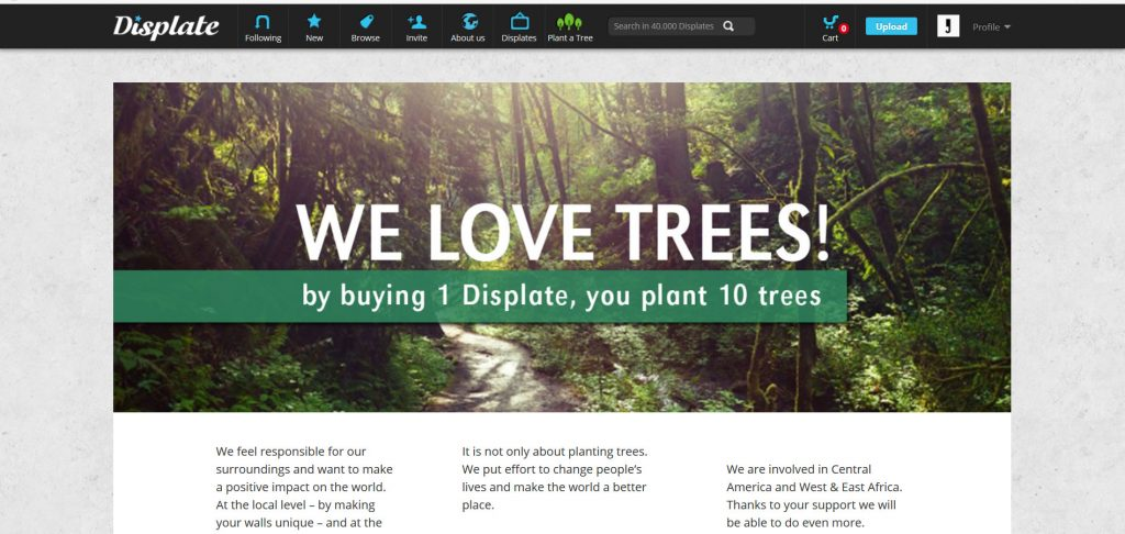 Save Trees with Displate