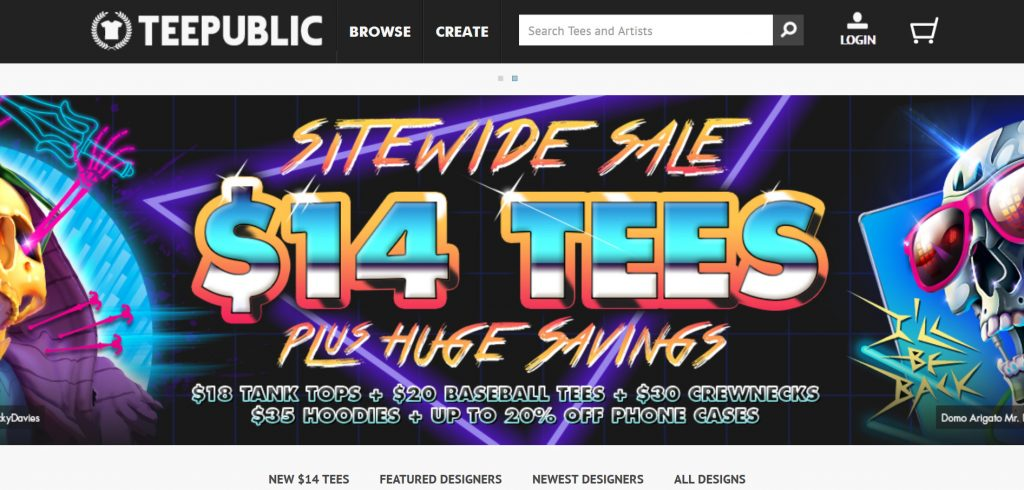 TeePublic, a platform to sell your designs and make money