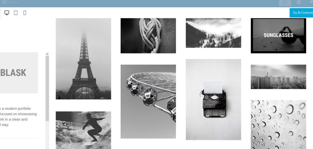 Blask, a clean and minimal portfolio theme for WordPress