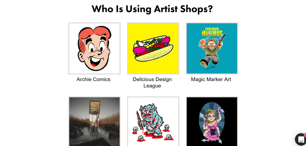 Artist Shops