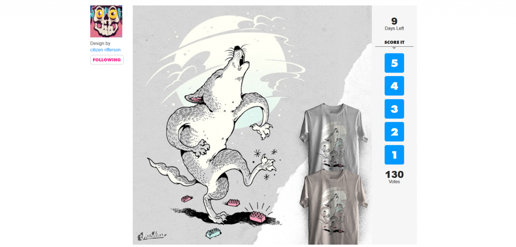 A look at Threadless' Scoring System