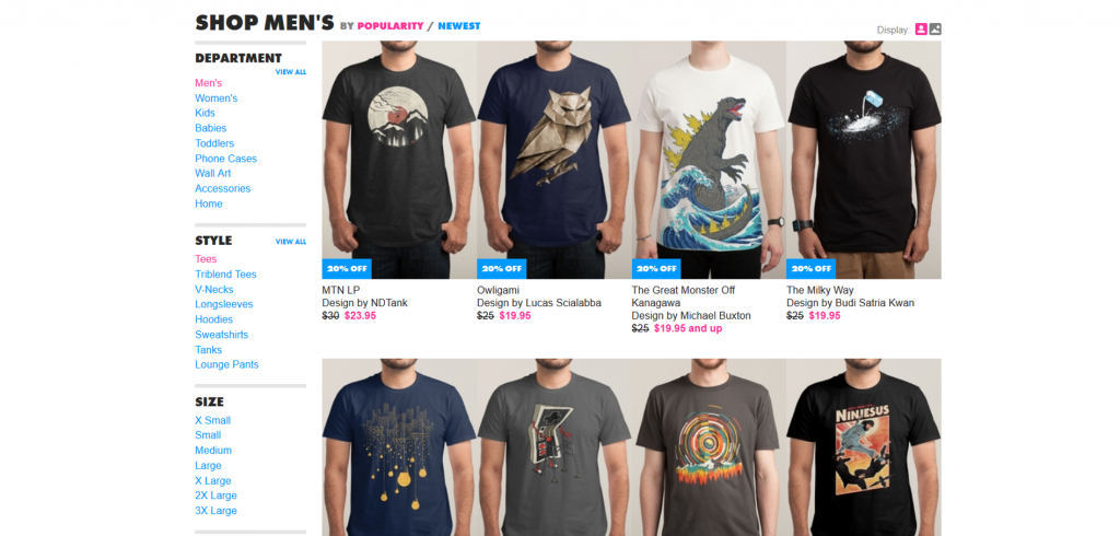 Shop for amazing men's tees at Threadless