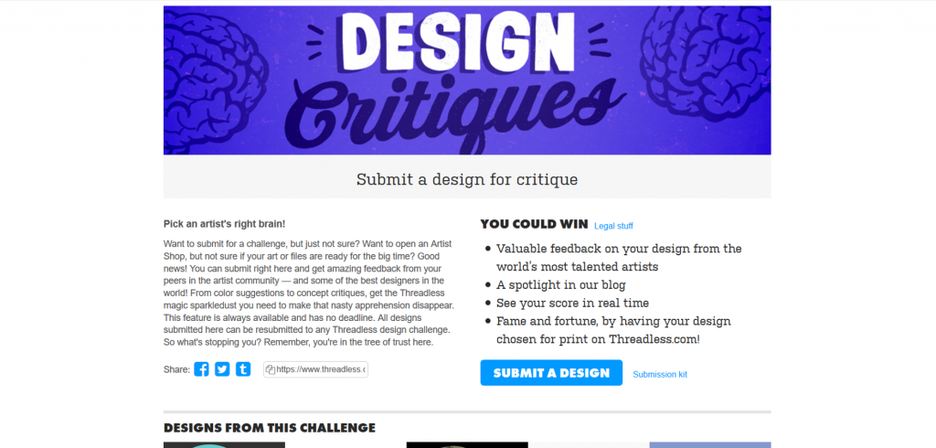 Design Critiques allows you to get feedback on your design