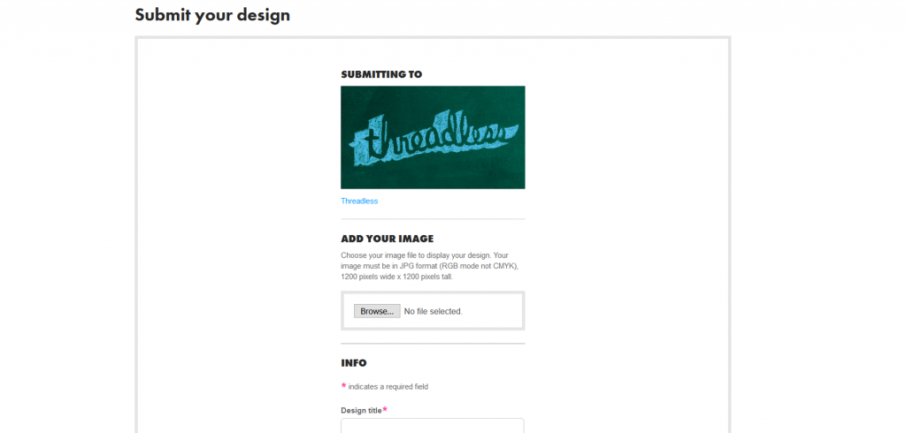 Submitting your design to Threadless