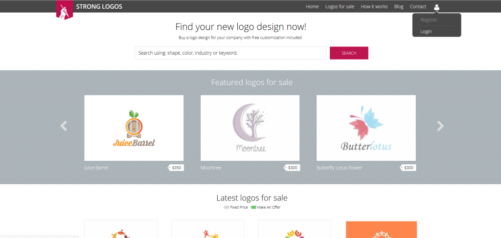 Strong Logos, an online marketplace for logo assets