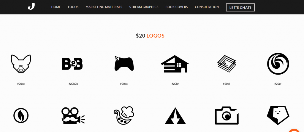 Started offering value for money premade logos on my website