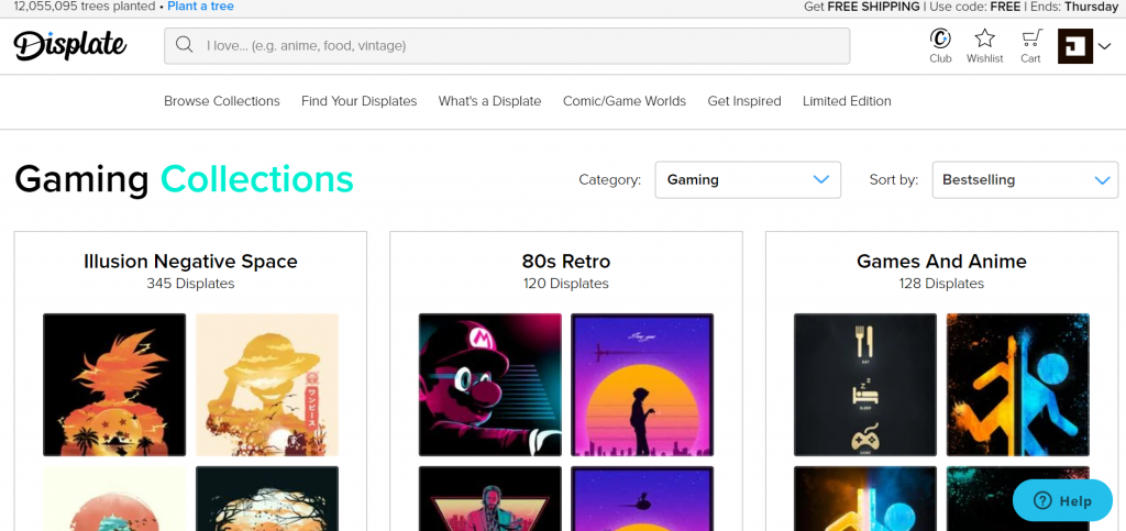 Gaming Collections are very popular on Displate