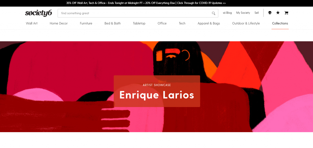 Enrique Larios, a graphic designer and illustrator based in Mexico, is one of Society 6's artist showcases this month
